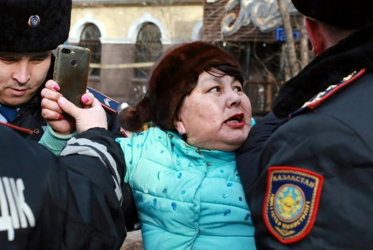Kazakh police detained as many as 200 opposition protesters on Saturday