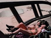 Carrie Fisher and Stunt Double Sunbathing (web)