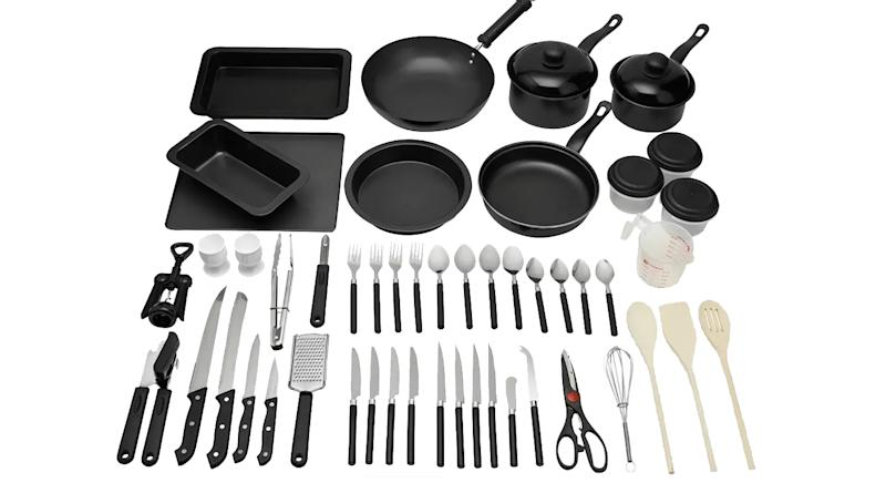 50 Piece Non Stick Kitchen Starter Set