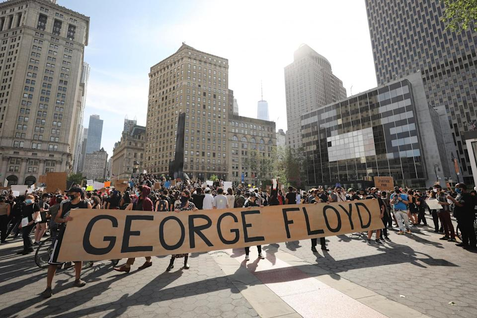 Hundreds of protesters gather in Manhattan Foley Square: Getty Images