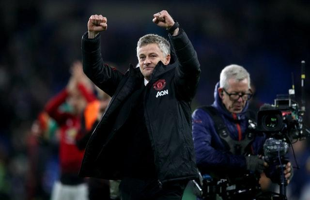 Ole Gunnar Solskjaer oversaw a 5-1 win at former club Cardiff in his first match as interim manager