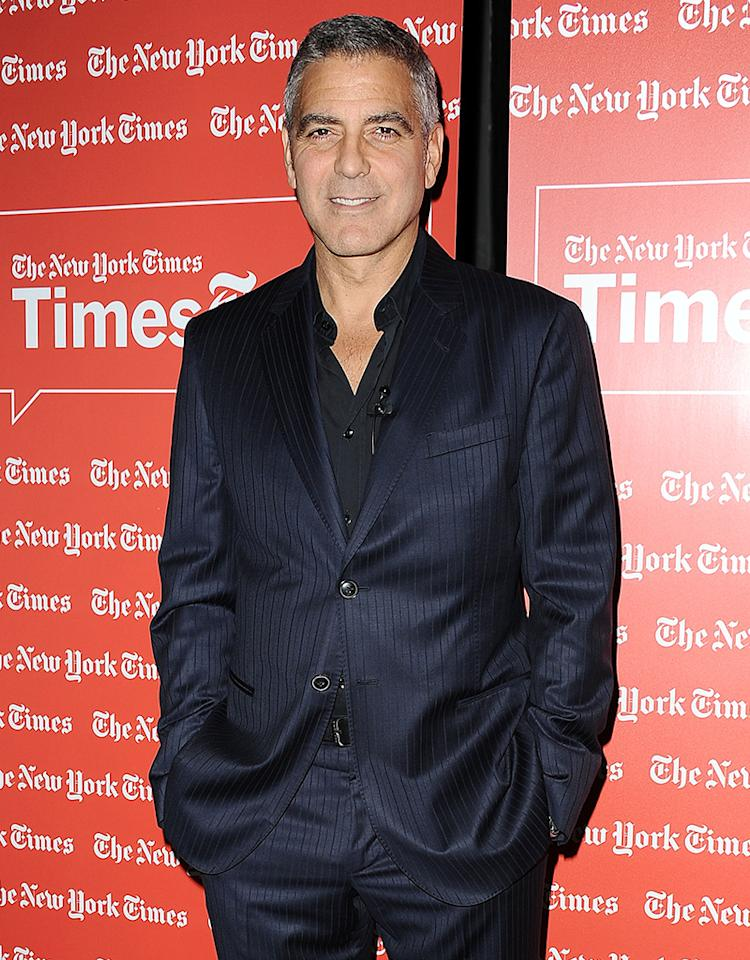 WEST HOLLYWOOD, CA - FEBRUARY 08: Actor George Clooney attends the West Coast TimesTalks at SilverScreen Theater at the Pacific Design Center on February 8, 2012 in West Hollywood, California. (Photo by Jason LaVeris/FilmMagic)