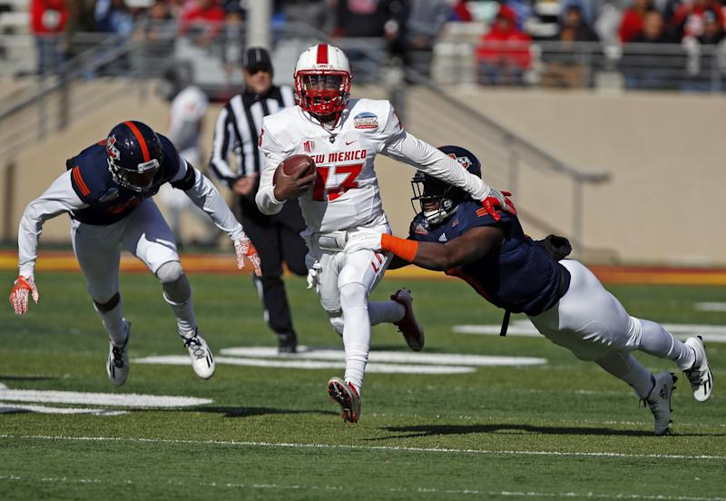 dc8258940 Quarterback Lamar Jordan led New Mexico with 81 rushing yards in its win  over UTSA.