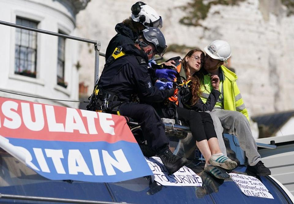 The Government is seeking a new injunction after climate protesters blocked the Port of Dover, Transport Secretary Grant Shapps said (Gareth Fuller/PA) (PA Wire)