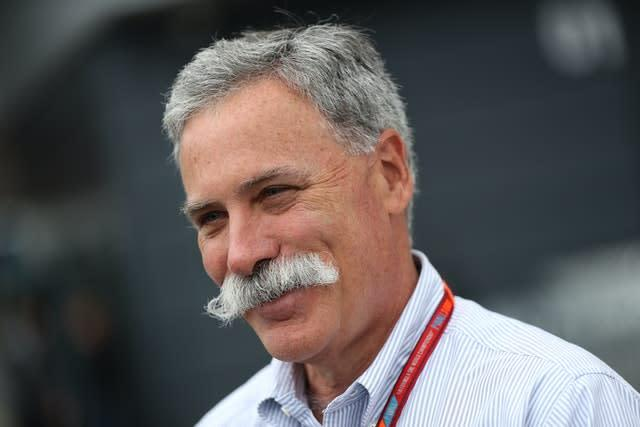 Formula One chairman Chase Carey (David Davies/PA)