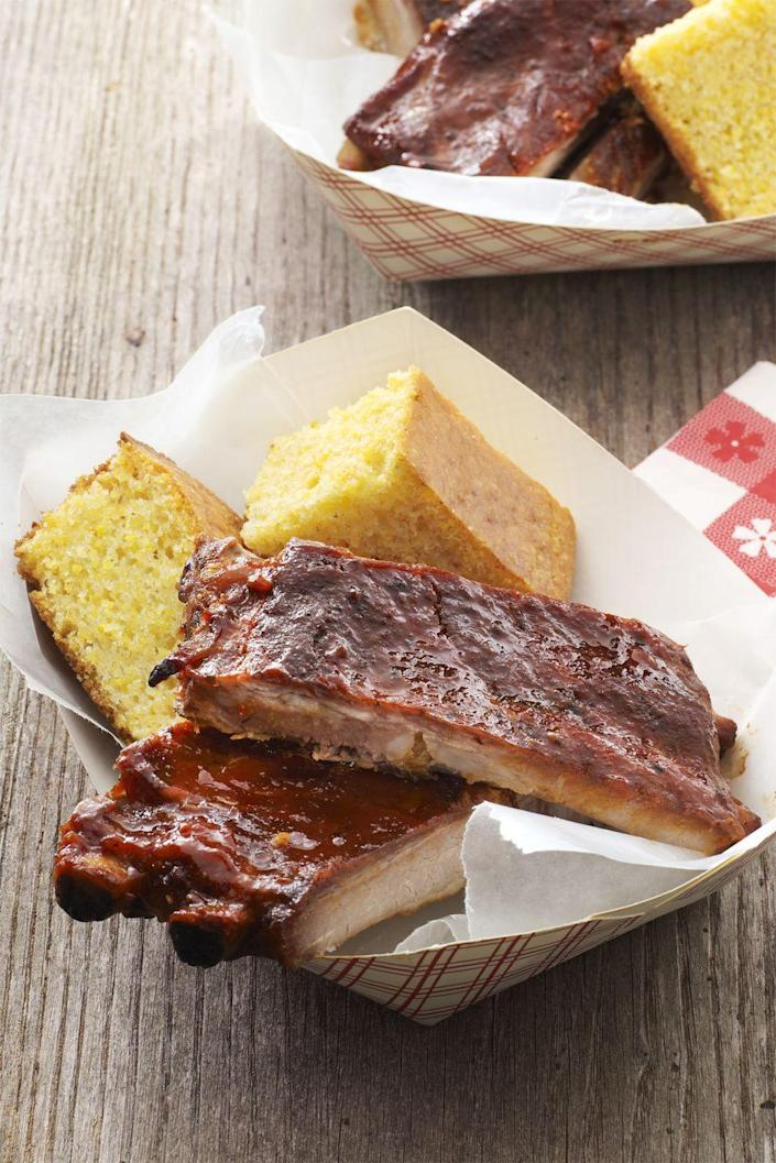 """<p>Put your Instant Pot to good use and make these juicy, potluck ribs.</p><p><a href=""""https://www.womansday.com/food-recipes/food-drinks/recipes/a58992/pressure-cooker-barbecue-ribs-recipe/"""" rel=""""nofollow noopener"""" target=""""_blank"""" data-ylk=""""slk:Get the recipe for Pressure Cooker Barbecue Ribs."""" class=""""link rapid-noclick-resp""""><u><em>Get the recipe for Pressure Cooker Barbecue Ribs.</em></u></a></p>"""