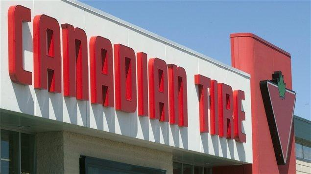 Enseigne d'un magasin Canadian Tire
