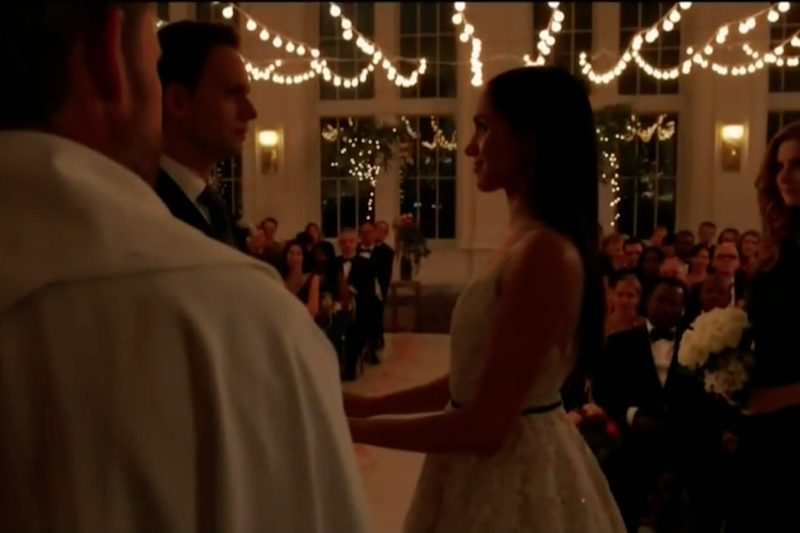 Meghan's on-screen character Rachel is getting married. Photo: USA Network