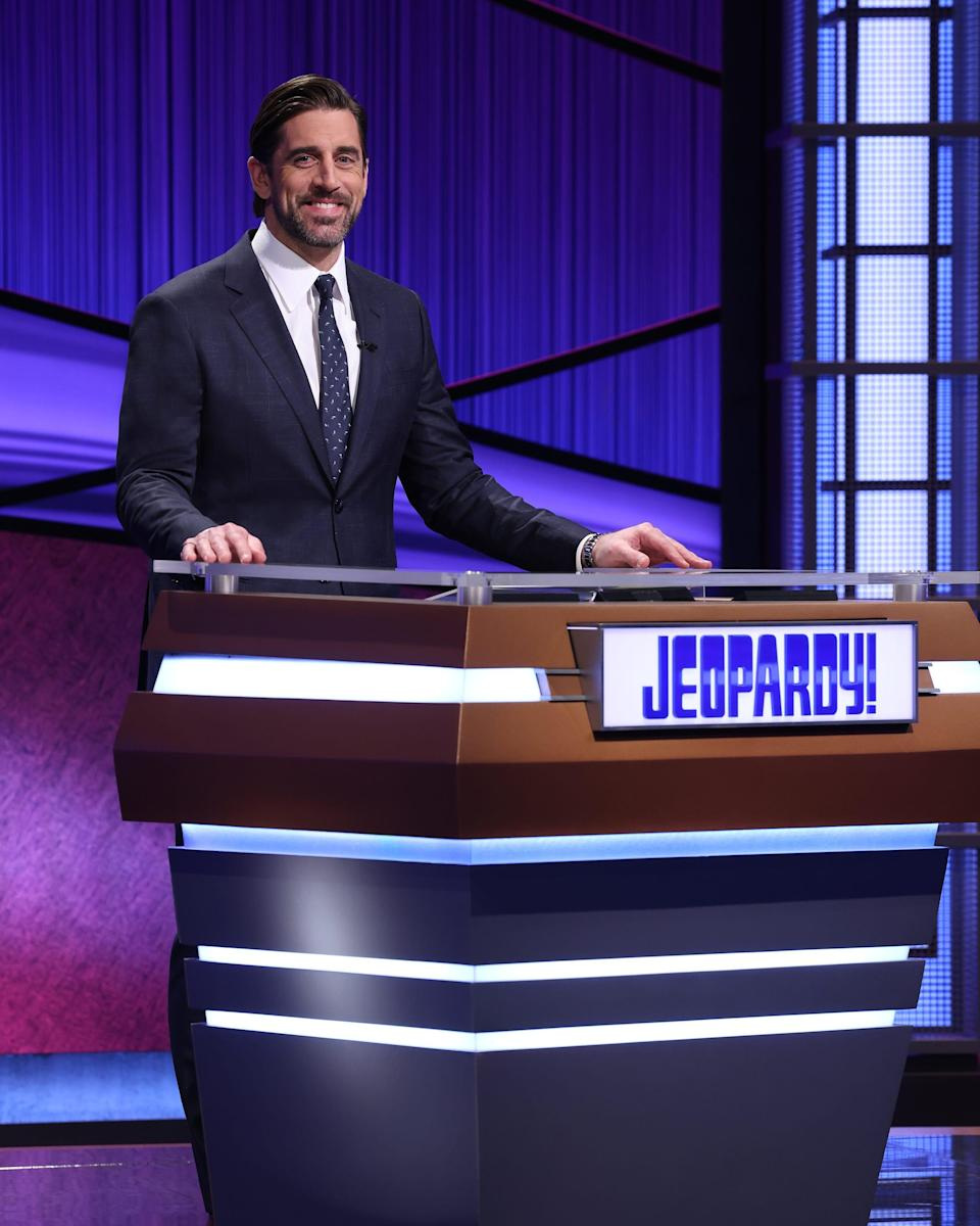 "Green Bay Packers quarterback Aaron Rodgers is the latest guest host of ""Jeopardy!"""
