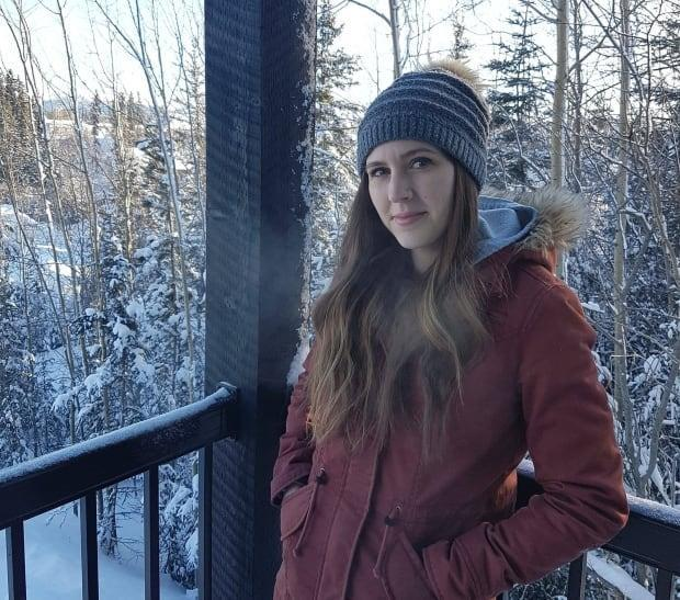 Born and raised in Inuvik, N.W.T., Angie Snow, pictured, first publicly shared her story on the Preacher Boys podcast with her husband, Norman Snow, earlier this year.  (Submitted by Angie Snow - image credit)