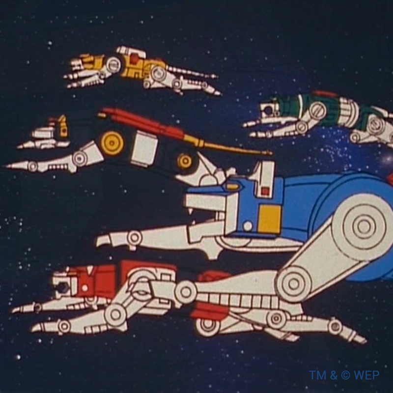 Robot lions from Voltron (Voltron Facebook Page)