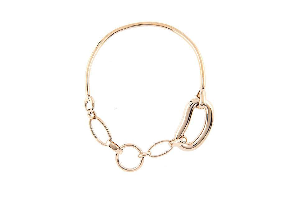 """<p>Oval Chain-Link Brass Necklace, $785, <a href=""""http://www.matchesfashion.com/us/products/1026535?country=USA&qxjkl=tsid:38929%7Ccgn:J84DHJLQkR4&c3ch=LinkShare&c3nid=J84DHJLQkR4&utm_source=RAN_US&utm_medium=Affiliate&utm_campaign=J84DHJLQkR4"""" rel=""""nofollow noopener"""" target=""""_blank"""" data-ylk=""""slk:matchesfashion.com"""" class=""""link rapid-noclick-resp"""">matchesfashion.com</a></p>"""