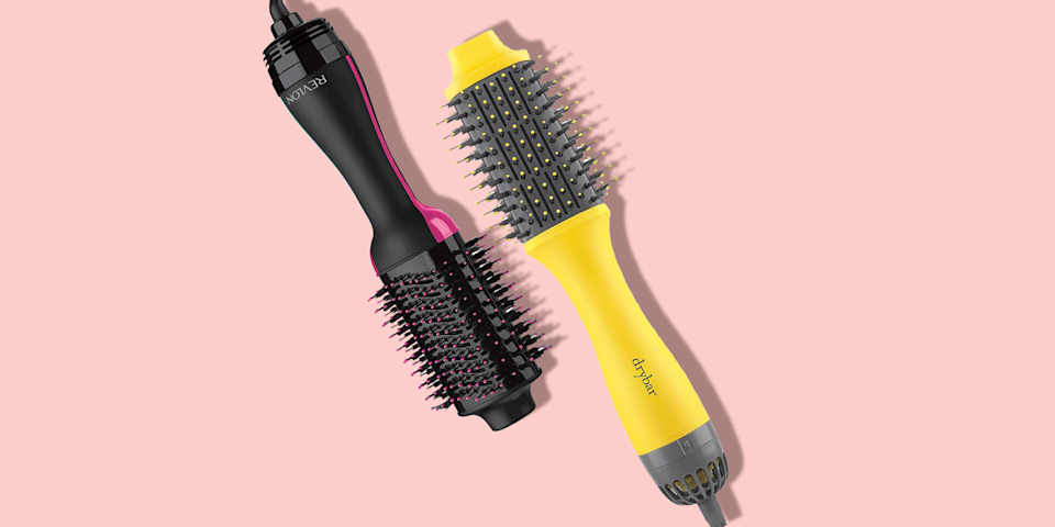 """<p>If you are tired of spending hours in the bathroom using a variety of products to dry <em>and</em> style your hair and want to re-create the salon-quality blowout you have been unsuccessfully attempting at home for years, a hair dryer brush could be the solution you never knew you needed. </p><p><strong>Hair dryer brushes effectively style and dry your hair at once, combining the power of a round brush and <a href=""""https://www.goodhousekeeping.com/beauty-products/hair-dryers/g550/best-hair-dryers/"""" rel=""""nofollow noopener"""" target=""""_blank"""" data-ylk=""""slk:hair dryer"""" class=""""link rapid-noclick-resp"""">hair dryer</a> in one tool. </strong>The result is voluminous, <a href=""""https://www.goodhousekeeping.com/beauty/hair/a28186415/frizzy-hair-tips/"""" rel=""""nofollow noopener"""" target=""""_blank"""" data-ylk=""""slk:frizz-free"""" class=""""link rapid-noclick-resp"""">frizz-free</a> shine in a single step. The bristles allow you to de-tangle your hair, and the heat settings allow for flexible styling options. These convenient tools work on a variety of hair types and will help you create a high quality style in a matter of minutes. But there are a multitude of dryer brushes to choose from, each with their own unique features. </p><h2 class=""""body-h2"""">How we pick the best hair dryer brushes</h2><p>At the <a href=""""https://www.goodhousekeeping.com/institute/about-the-institute/a22148/about-good-housekeeping-seal/"""" rel=""""nofollow noopener"""" target=""""_blank"""" data-ylk=""""slk:Good Housekeeping Institute"""" class=""""link rapid-noclick-resp"""">Good Housekeeping Institute</a>, we test and vet hair styling products every day, from <a href=""""https://www.goodhousekeeping.com/beauty/hair/g4903/best-hair-straighteners/"""" rel=""""nofollow noopener"""" target=""""_blank"""" data-ylk=""""slk:straightening irons"""" class=""""link rapid-noclick-resp"""">straightening irons</a> to <a href=""""https://www.goodhousekeeping.com/beauty-products/g28647973/best-hairsprays/"""" rel=""""nofollow noopener"""" target=""""_blank"""" data-ylk=""""slk:hairspray"""" class=""""link rapid-noclick"""