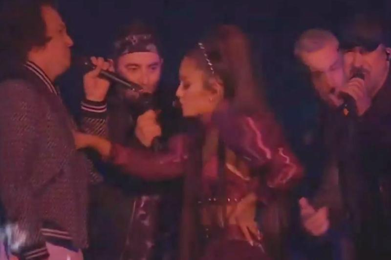 On stage: Ariana Grande reunited NSYNC for her set (Coachella)