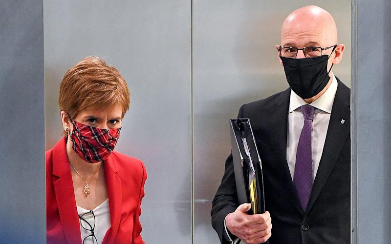 John Swinney has been handling the governments response to the affair after Nicola Sturgeon recused herself fro decision making - Jeff J Mitchell/Getty