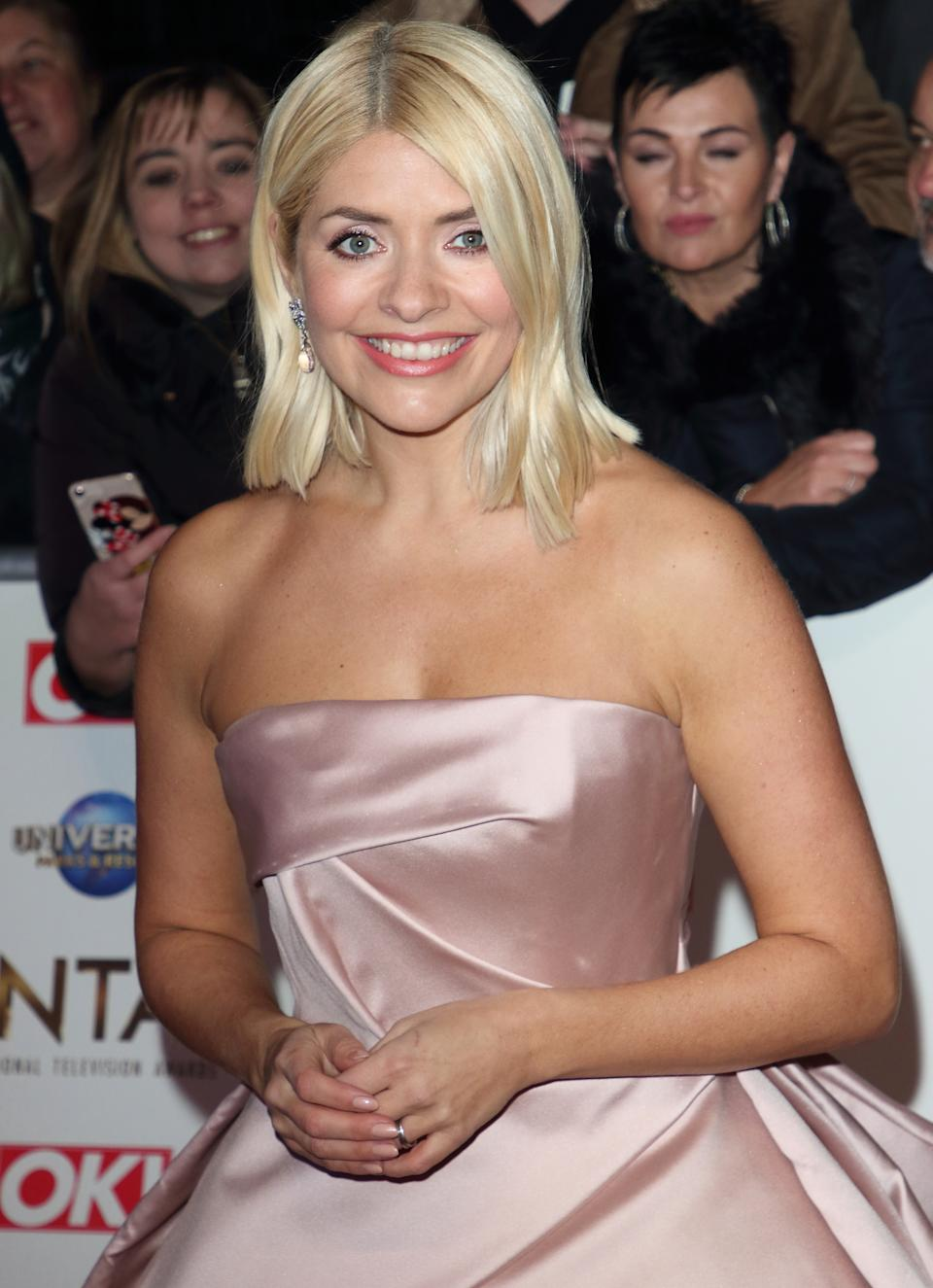 Holly Willoughby attends the National Television Awards 2020 at The O2 Arena in London. (Photo by Keith Mayhew / SOPA Images/Sipa USA)