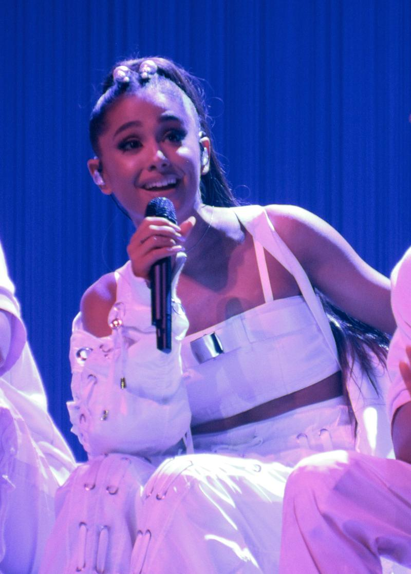 Snow White has nothing on Ariana Grande as she looks breath-taking in an all-white outfit during a performance