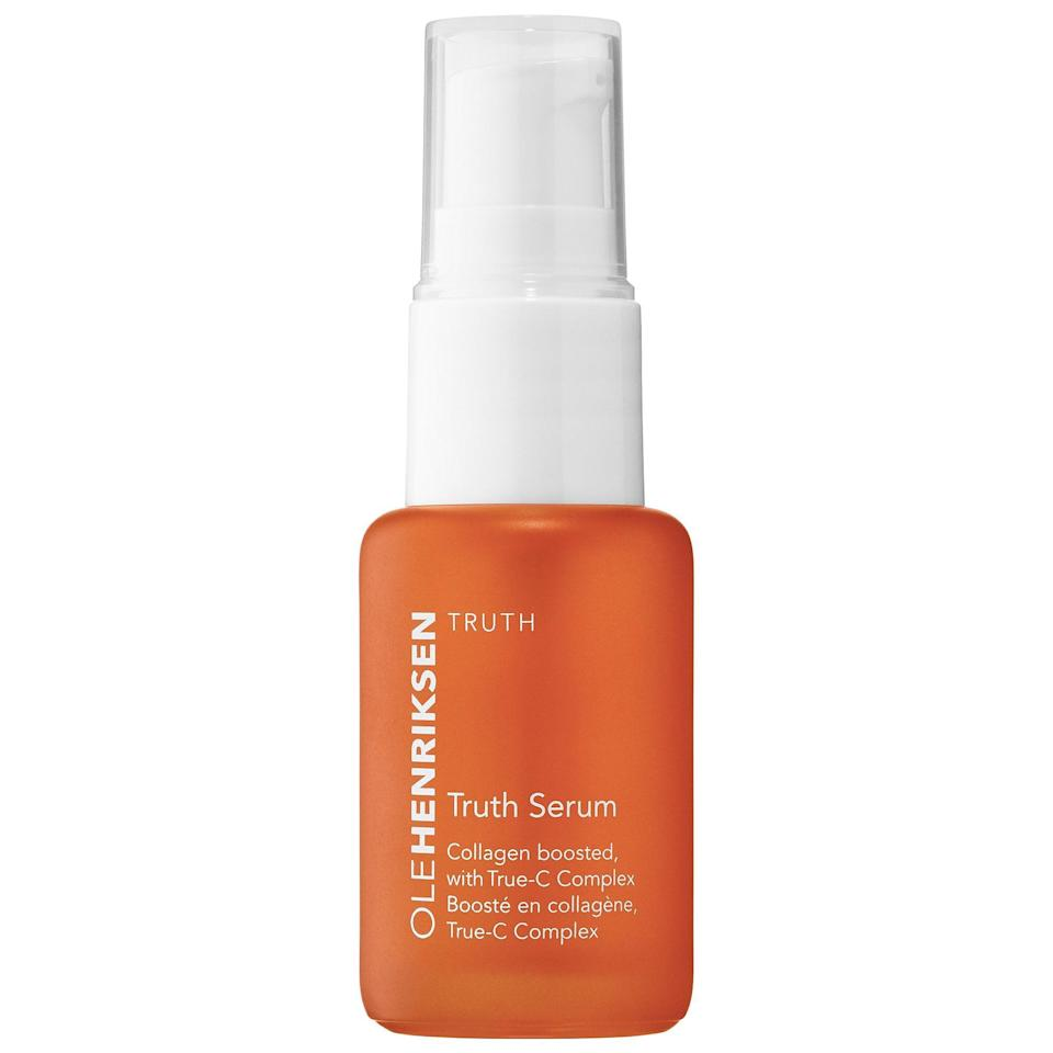 """Another favorite of Marmur's is Ole Henriksen's Truth Serum, which continues to be one of the most popular <a href=""""https://www.allure.com/gallery/get-brighter-skin-vitamin-c?mbid=synd_yahoo_rss"""" rel=""""nofollow noopener"""" target=""""_blank"""" data-ylk=""""slk:vitamin C formulas"""" class=""""link rapid-noclick-resp"""">vitamin C formulas</a> on the market. Come for the citrusy scent, stay for the glow-boosting effects on your skin."""