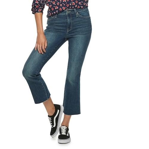"""<p><a href=""""https://www.popsugar.com/buy/POPSUGAR-High-Waisted-Kick-Flare-Jeans-484082?p_name=POPSUGAR%20High-Waisted%20Kick%20Flare%20Jeans&retailer=kohls.com&pid=484082&price=37&evar1=fab%3Aus&evar9=46554924&evar98=https%3A%2F%2Fwww.popsugar.com%2Ffashion%2Fphoto-gallery%2F46554924%2Fimage%2F46559357%2FHow-to-Wear-Chainlink-Necklaces&list1=shopping%2Cjewelry%2Cfall%20trends%2Ctrends%2Cfall%2Coutfits%2Chow%20to%20wear%2Cfall%20shopping%2Coutfit%20ideas&prop13=mobile&pdata=1"""" rel=""""nofollow"""" data-shoppable-link=""""1"""" target=""""_blank"""" class=""""ga-track"""" data-ga-category=""""Related"""" data-ga-label=""""https://www.kohls.com/product/prd-3827221/womens-popsugar-high-waisted-kick-flare-jeans.jsp?color=Dark%20Wash&amp;prdPV=1"""" data-ga-action=""""In-Line Links"""">POPSUGAR High-Waisted Kick Flare Jeans</a> ($37, originally $50)</p>"""