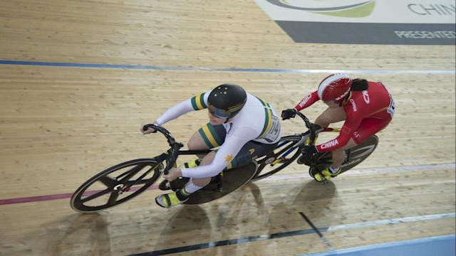 Stephanie Morton, left, hopes for a change in fortune when she returns to the Anna Meares Velodrome