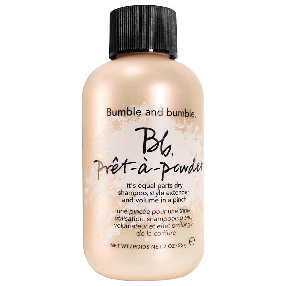 """<p><strong>Bumble and bumble</strong></p><p>sephora.com</p><p><strong>$28.00</strong></p><p><a href=""""https://go.redirectingat.com?id=74968X1596630&url=https%3A%2F%2Fwww.sephora.com%2Fproduct%2Fpret-a-powder-dry-shampoo-powder-P384541&sref=https%3A%2F%2Fwww.thepioneerwoman.com%2Fbeauty%2Fhair%2Fg36801161%2Fbest-dry-shampoos-for-oily-hair%2F"""" rel=""""nofollow noopener"""" target=""""_blank"""" data-ylk=""""slk:Shop Now"""" class=""""link rapid-noclick-resp"""">Shop Now</a></p><p>If aerosol dry shampoos aren't for you, try a powder formula. This one has all the oil-banishing abilities without the messiness of a spray. Simply sprinkle some on your scalp and work it in with your fingertips for a shine-free finish and added texture.</p>"""
