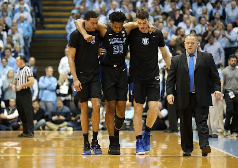 Duke C Marques Bolden to miss ACC tournament with MCL sprain