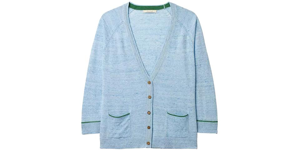 White Stuff Anchor Marl Linen Cotton Cardigan