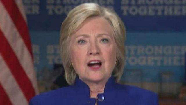 Clinton wondered in a video conference to a gathering in Las Vegas of the Laborers' International Union of North America why she isn't beating Trump handily. Is she - along with other Dems - worried? Dem strategist Joe Trippi goes 'On the Record'