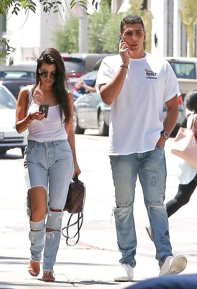 Kourtney Kardashian and Younes Bendjima are casually seeing each other. (Photo: CPR/BACKGRID)