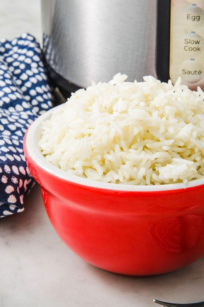 """<p>When <a href=""""https://www.delish.com/uk/food-news/a28997170/how-to-cook-rice/"""" rel=""""nofollow noopener"""" target=""""_blank"""" data-ylk=""""slk:cooking rice"""" class=""""link rapid-noclick-resp"""">cooking rice</a>, a lot of things can go wrong. But not in this stupid easy recipe. Instant Pot, we 💖 you.</p><p>Get the <a href=""""https://www.delish.com/uk/cooking/recipes/a30774757/instant-pot-rice-recipe/"""" rel=""""nofollow noopener"""" target=""""_blank"""" data-ylk=""""slk:Instant Pot Rice"""" class=""""link rapid-noclick-resp"""">Instant Pot Rice</a> recipe.</p>"""