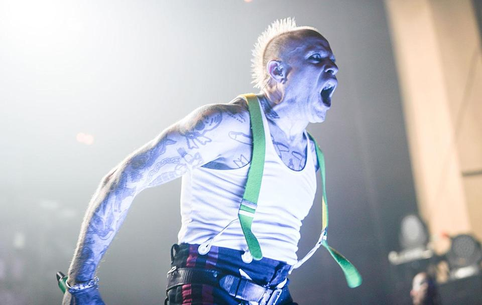 Keith Flint of The Prodigy performing live on stage at Brixton O2 Academy in London. Photo date: Thursday, December 21, 2017. (Richard Gray/EMPICS Entertainment)