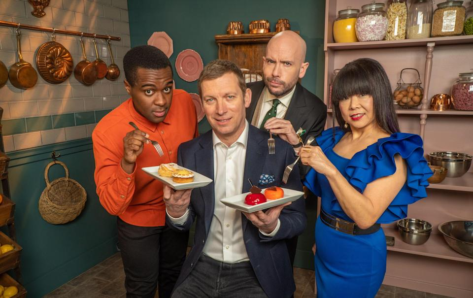 Liam, Benoit, Tom and Cherish - Bake Off: The Professionals (Channel 4)