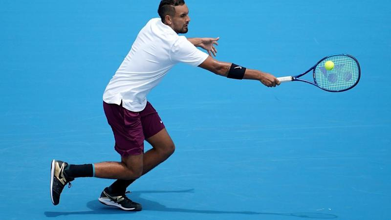 Nick Kyrgios will play unseeded Italian Lorenzo Sonego in the first round of the Australian Open
