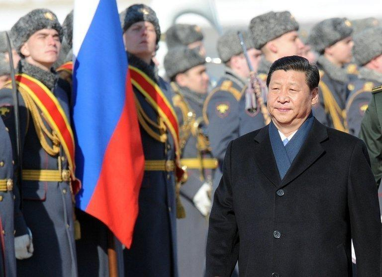 Chinese President Xi Jinping arrives at Vnukovo airport outside Moscow on March 22, 2013. He is on his first foreign trip as president, to cement ties between the two countries by inking a raft of energy and investment accords