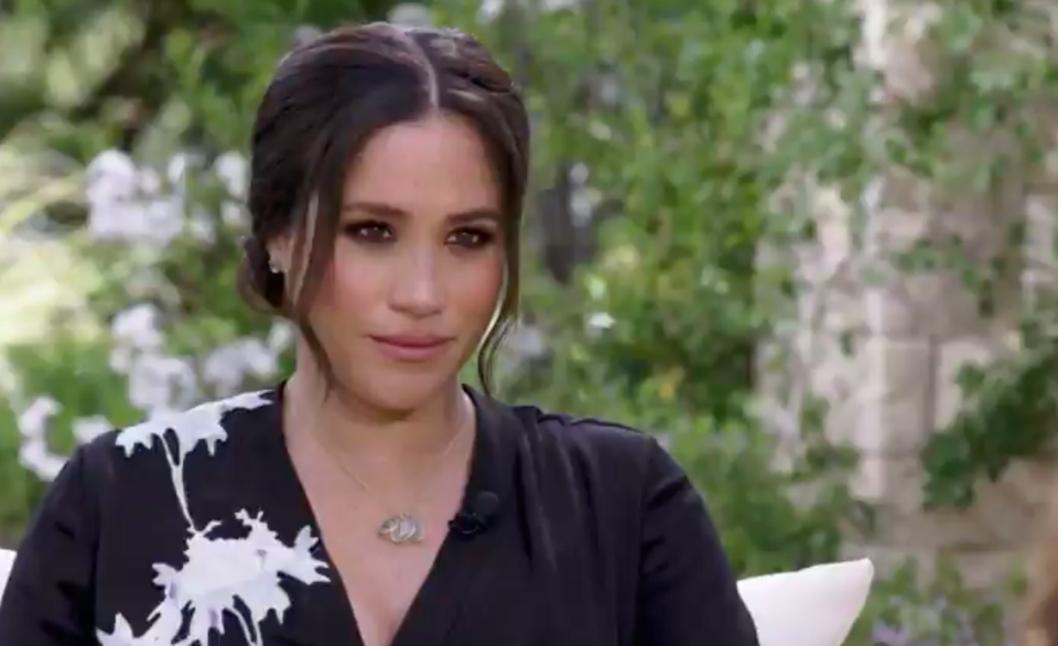 meghan markle during interview on CBS
