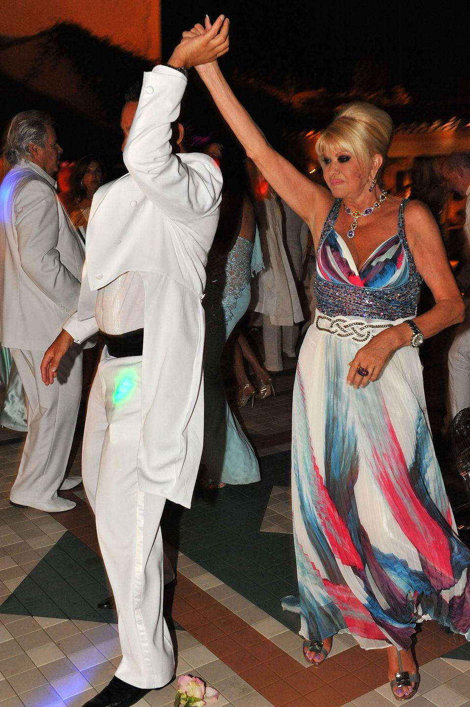 <p>Marcantonio Rota and Ivana Trump celebrate her birthday at a party in Saint-Tropez, France. </p><p>Other celebrity visitors this year: Naomi Watts, Liev Schreiber, Cristiano Ronaldo, Irina Shayk, Zac Efron, Ryan Seacrest.</p>