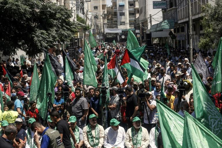 In recent weeks the Hamas-ruled Gaza Strip has seen almost daily protests against US President Donald Trump's Middle East peace plan which foresees Israeli annexation of its settlements in the occupied West Bank and the Jordan Valley (AFP Photo/SAID KHATIB)