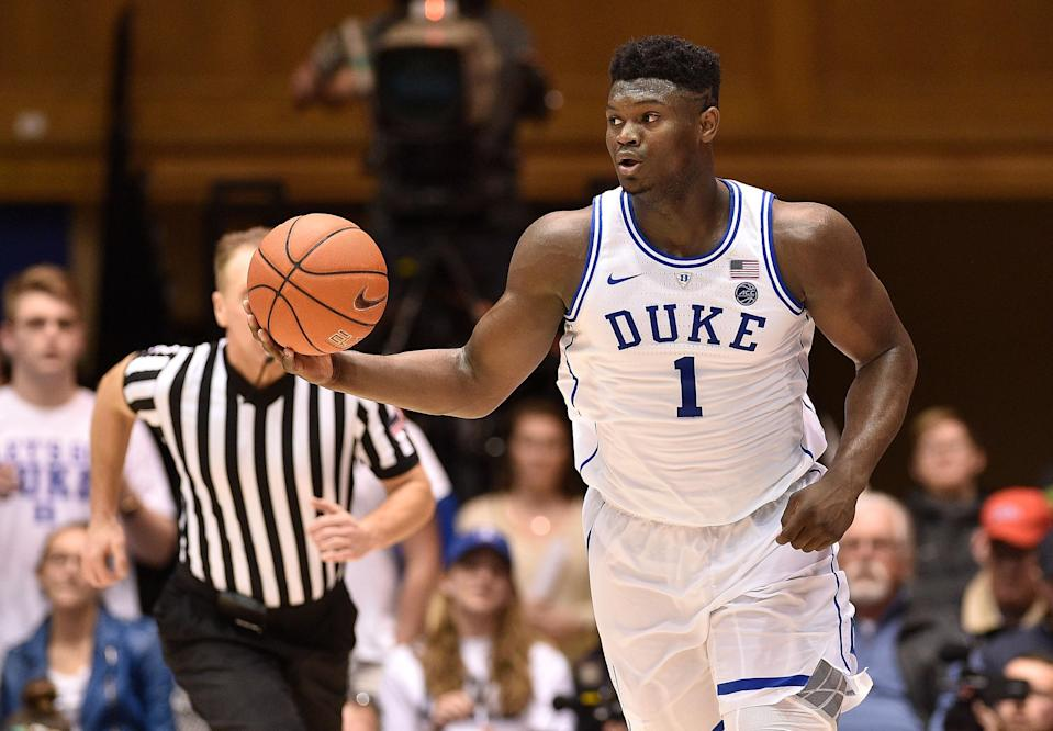 Zion Williamson has been the talk of college basketball this season, but how will his talent translate in the NBA? (Getty)