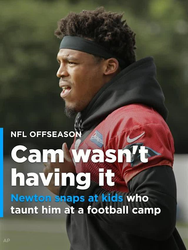 Carolina Panthers quarterback Cam Newton has always been all about the kids, but he also isn't taking any trash talking from anyone, regardless of age.
