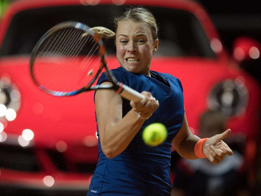 Rising star Kontaveit stunned Muguruza (Getty)
