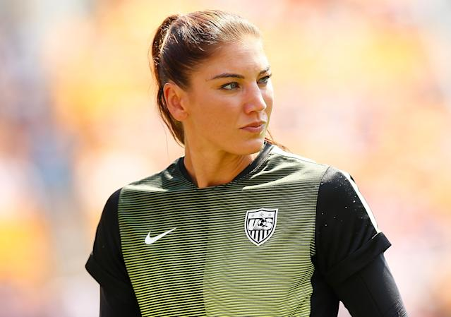 Hope Solo is a finalist for U.S. Soccer president, but there's no telling which direction voters want to go. (Getty)