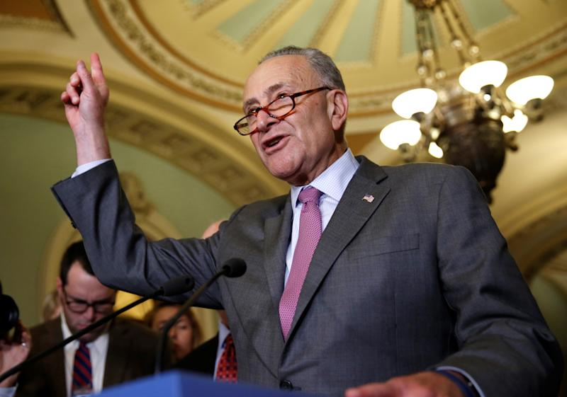 U.S. Senate Minority Leader Chuck Schumer (D-N.Y.) urged a group of breakaway New York Democrats to return to the party fold. (Joshua Roberts / Reuters)