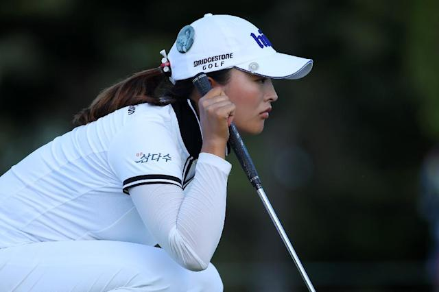 World number one Ko Jin-young of South Korea seeks her third LPGA ttile of the year when the Los Angeles Open starts Thursday (AFP Photo/Gregory Shamus)