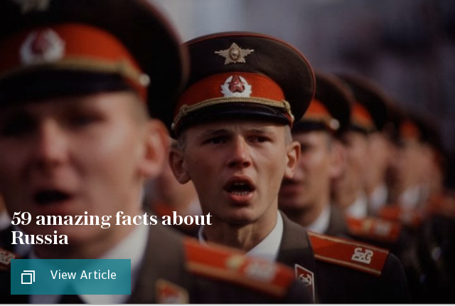 59 amazing facts about Russia