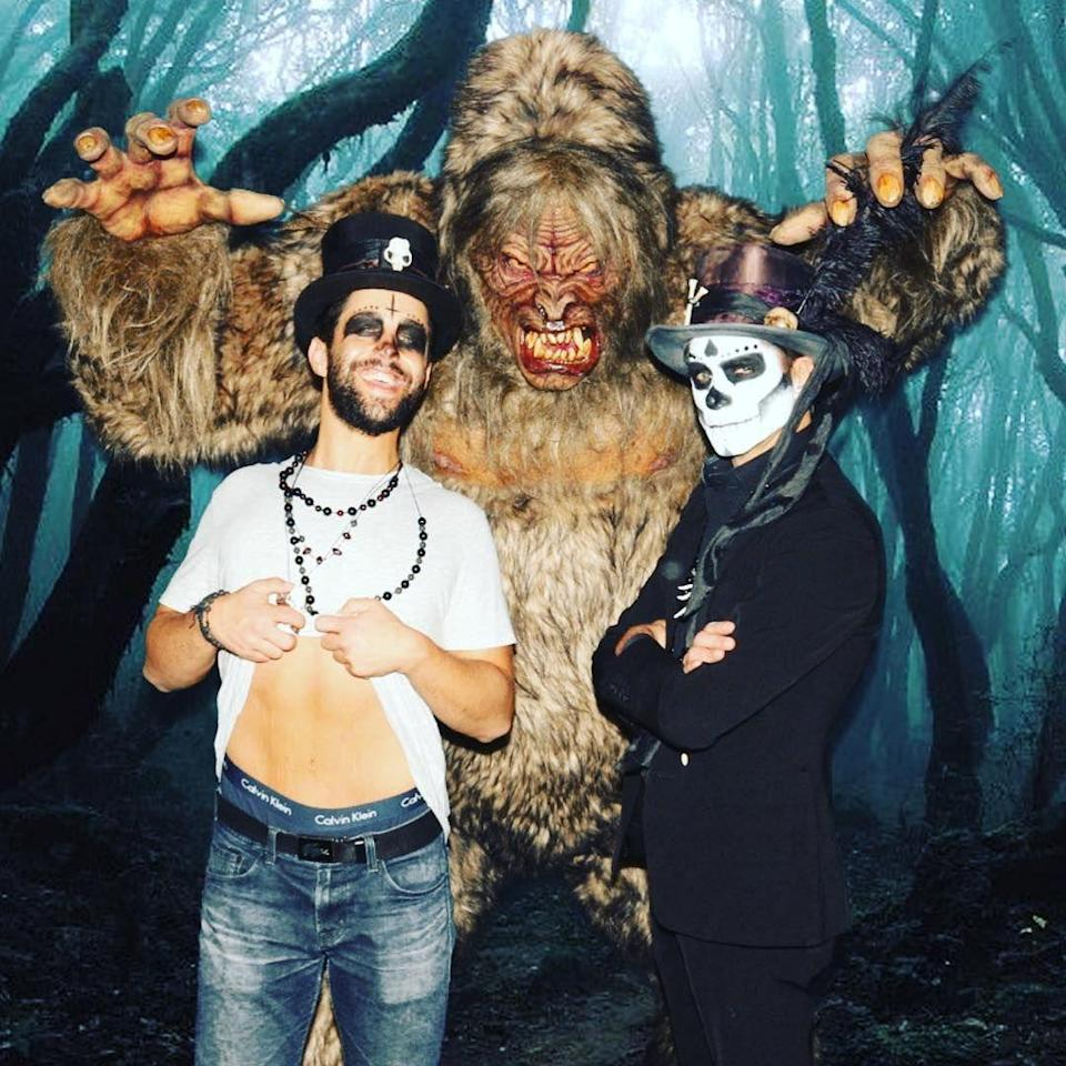 <p>The <em>Grandfathered</em> stars took their bromance to the next level when they wore matching costumes.</p>