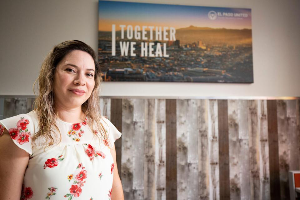 Idalhi Huizar-Mendoza M.Ed is photographed at her offices at the El Paso United Family Resiliency Center in El Paso, Texas on July 26, 2021.