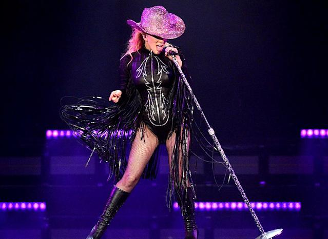 "<p>The Mother Monster rocked the house during the L.A. stop on her Joanne World Tour. ""I only act different because I don't know <a href=""http://www.billboard.com/articles/columns/pop/7897028/lady-gaga-joanne-world-tour-concert-recap-los-angeles-forum"" rel=""nofollow noopener"" target=""_blank"" data-ylk=""slk:how to act"" class=""link rapid-noclick-resp"">how to act</a> the same,"" she confessed to the sold-out crowd. (Photo: Kevin Mazur/Getty Images for Live Nation) </p>"