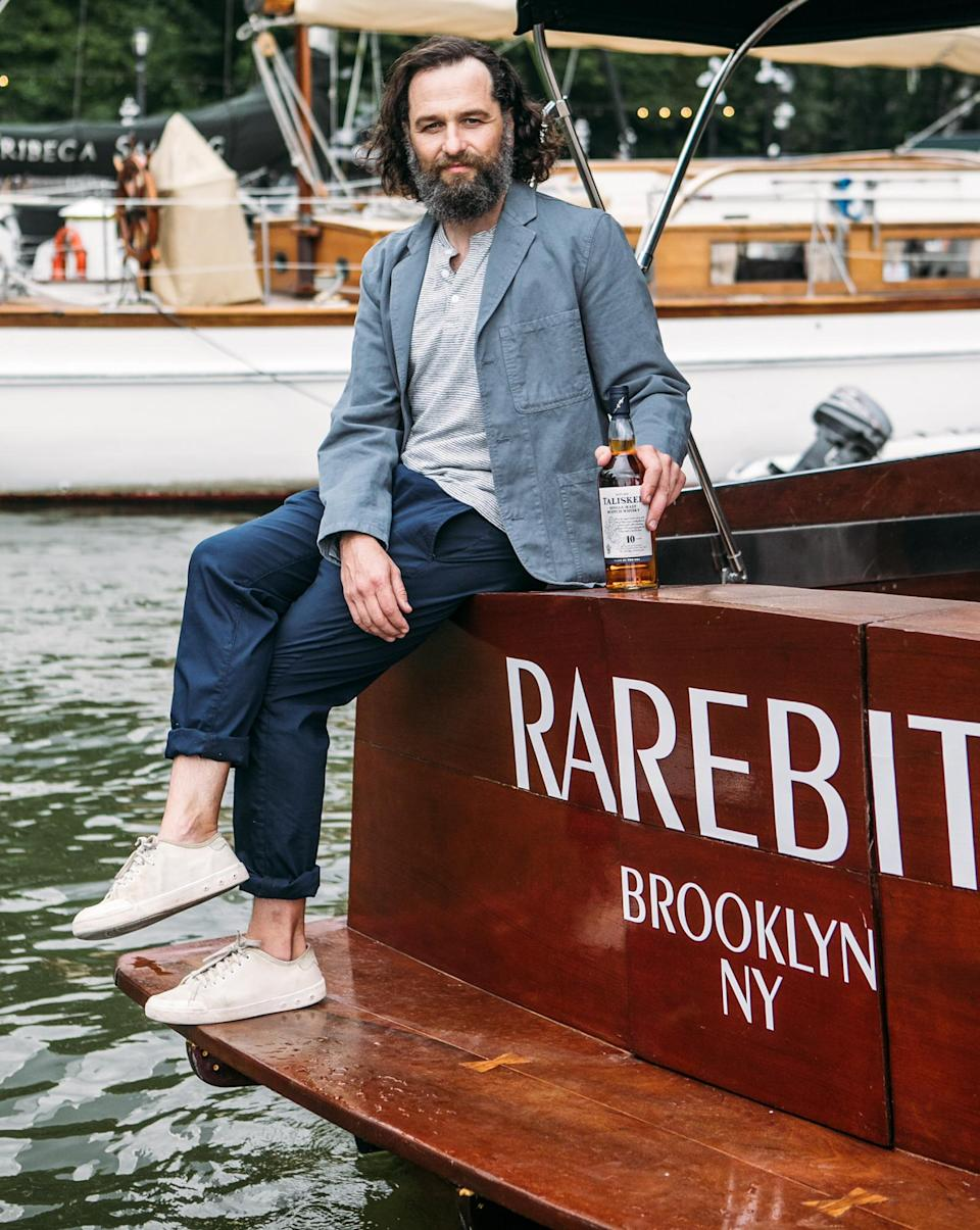 <p>Matthew Rhys enjoys a Talisker tasting on the Shearwater and at Celestine in Brooklyn, New York.</p>