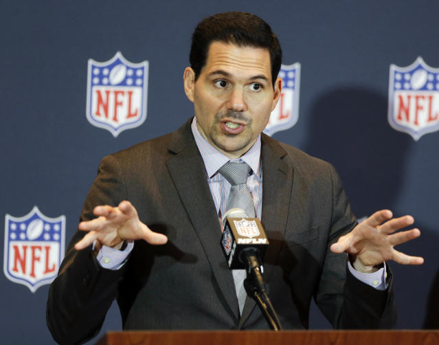 Dean Blandino was the NFL's senior vice president of officiating before he stepped down in 2017 for a television job. (AP Photo/John Raoux, File)