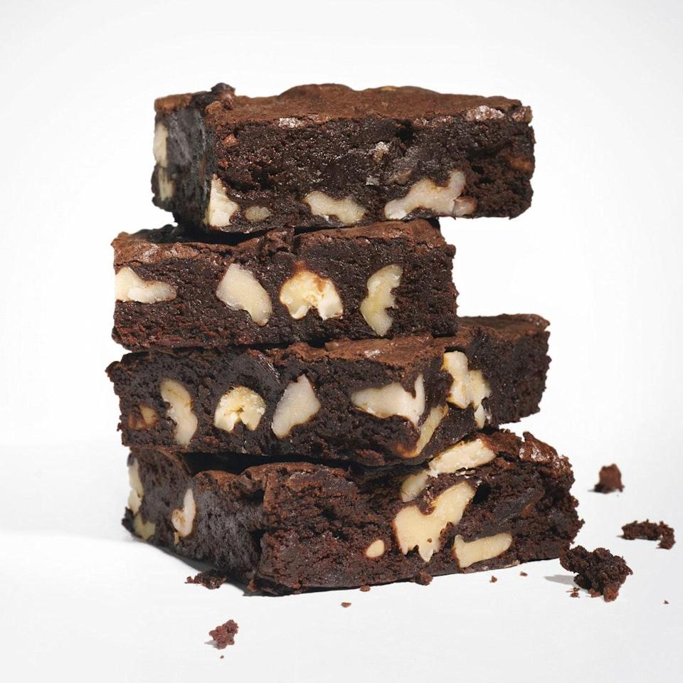 """Cocoa brownies have the softest center and chewiest candylike top """"crust"""" of all because all of the fat in the recipe (except for a small amount of cocoa butter in the cocoa) is butter. <a href=""""https://www.epicurious.com/recipes/food/views/cocoa-brownies-with-browned-butter-and-walnuts-363755?mbid=synd_yahoo_rss"""" rel=""""nofollow noopener"""" target=""""_blank"""" data-ylk=""""slk:See recipe."""" class=""""link rapid-noclick-resp"""">See recipe.</a>"""
